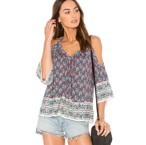 Ella Moss | Bordeaux Tapestry Top in Brick